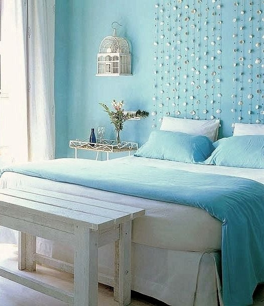 Pale Blue Painted Beach Bedroom Dreamy
