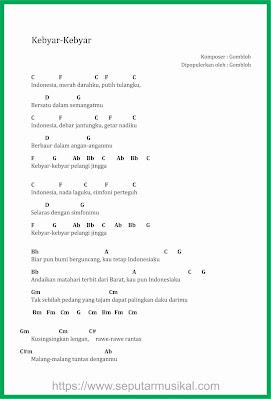 chord kebyar kebyar penyanyi gombloh