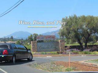 The entrance to Charles Krug Winery in Napa, California