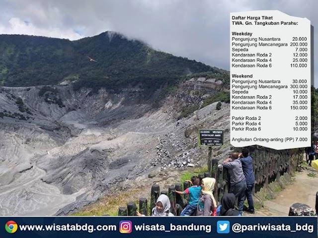 Ini Harga Tiket Terbaru Taman Wisata Alam Gunung Tangkuban Parahu Per Mei 2021