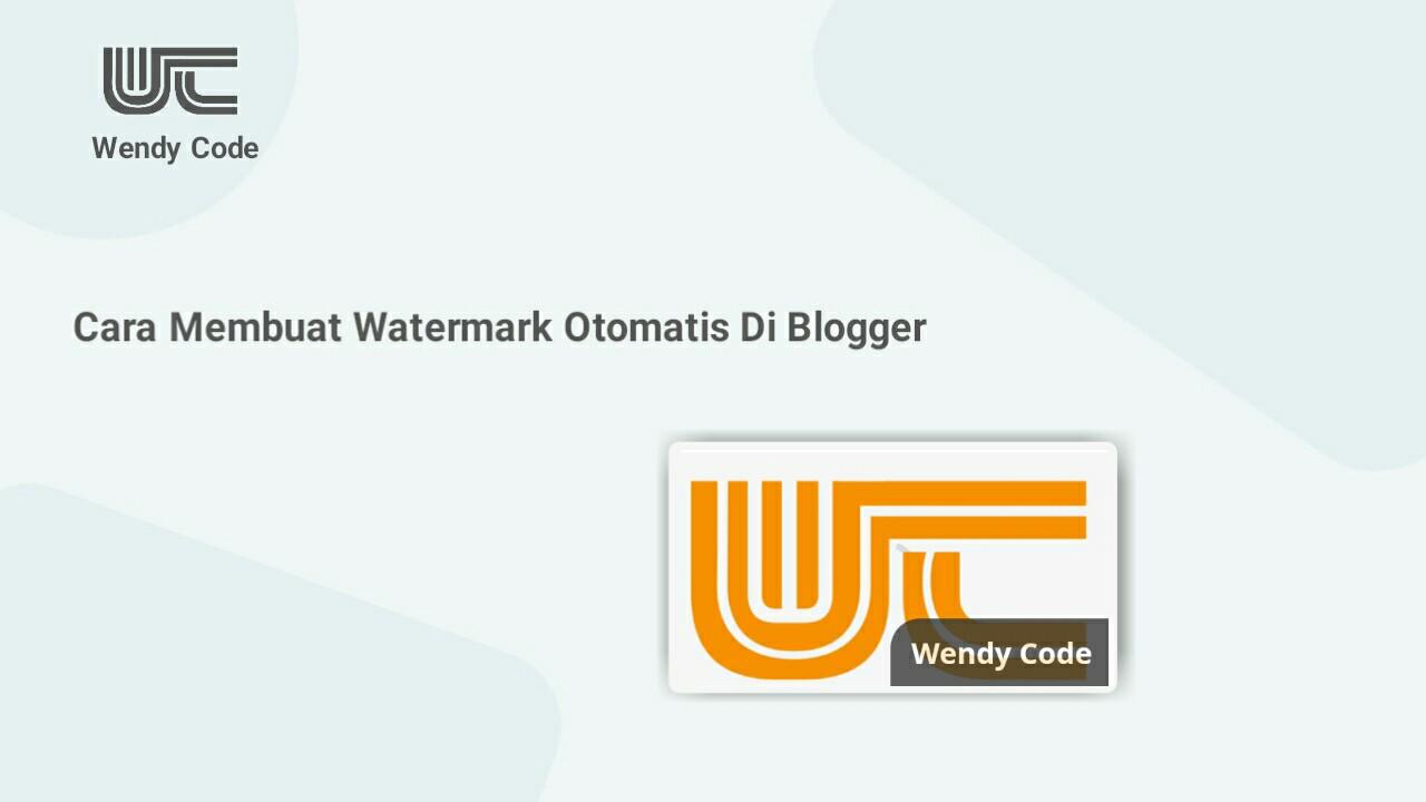 cara membuat watermark otomatis pada gambar di blogger menggunakan CSS