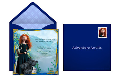 Free Disney Brave invitations
