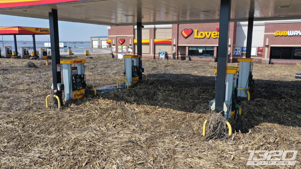 Just A Car Guy: Flooding in Nebraska and Iowa  This truck stop and
