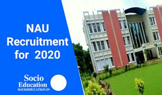 Navsari Agricultural University (NAU) Recruitment 2020