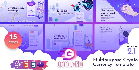 Best Multipurpose Crypto Currency HTML Template