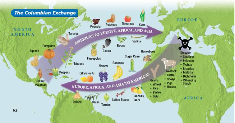The Half-Pint Historian Blog: The Columbian Exchange and ...