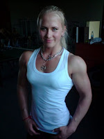 Sarah backman Female bodybuilding fitness arm wrestling beauty