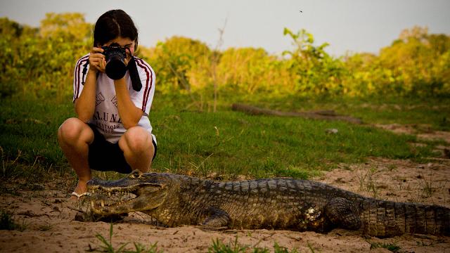 Passeio no Pantanal - Safari diurno (Foto: Pousada Pequi).