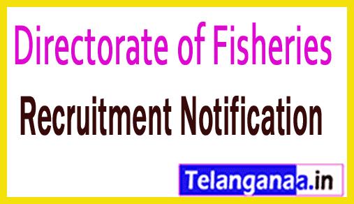 Directorate of Fisheries Andaman / Nicobar Administration Recruitment