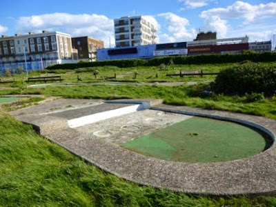 The Arnold Palmer Putting Course at the Little Oasis in Cliftonville, Margate shortly before it was completely removed