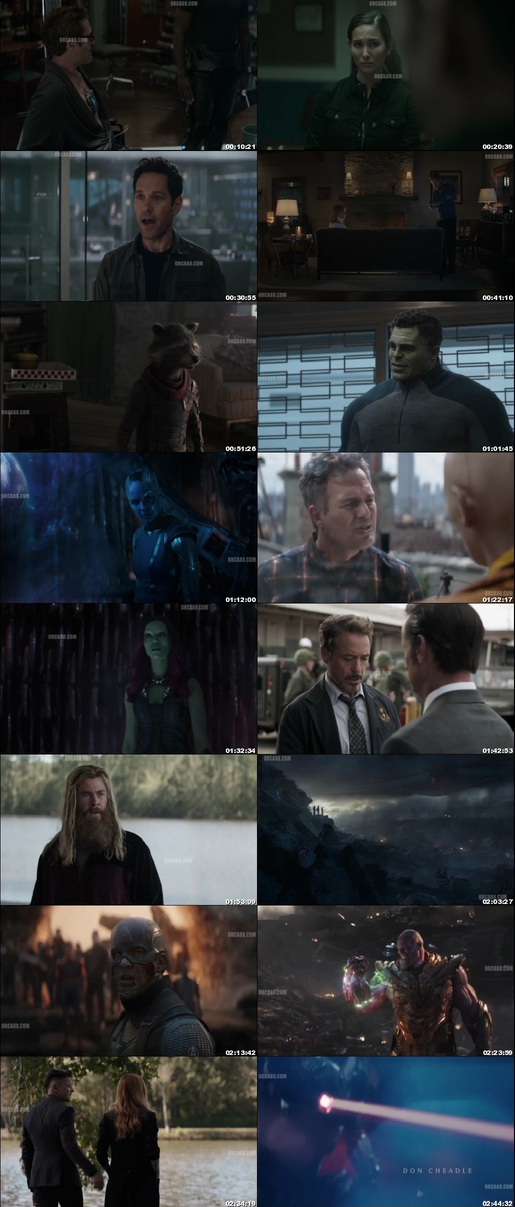 Screen Shot Of Avengers: Endgame 2019 300MB Full Movie Hindi Dubbed Free Download 480P BRRip Small Size PC Movie