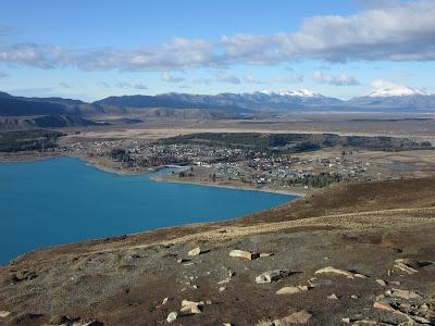 Lago Tekapo desde el monte John, en Nueva Zelanda