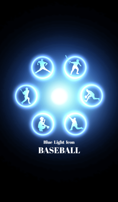 Blue Light Icon BASEBALL