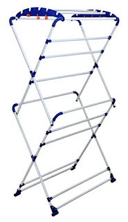 sumo cloth stand, Paffy Sumo Clothes Drying Stand Large (White & Blue)
