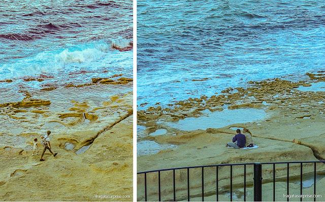 Malta: Orla de Sliema, no bairro de Torri