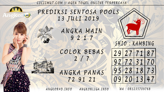 PREDIKSI SENTOSA POOLS 13 JULI 2019