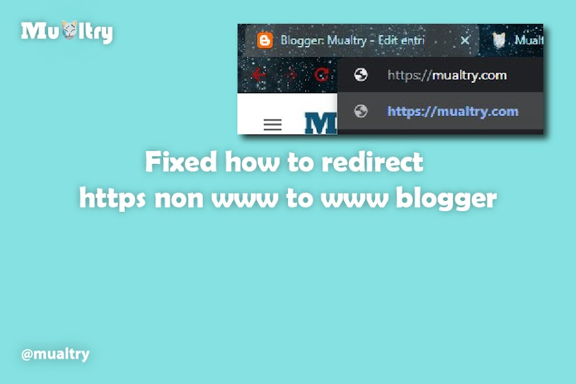 Fixed how to redirect https non www to www blogger