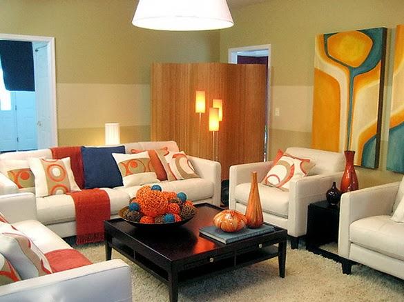 diseño de sala colorida