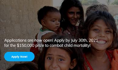 Children's Prize to Combat Child Mortality 2021 ( $150,000 grant)