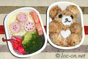 今月のキャラ弁は熊さんと豚さんと肉球です,This month's Kyaraben is a bear and a pig and a paw,本月的卡通盒饭内容是熊熊和猪猪和肉掌