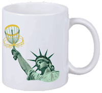 Disc Golf Tasse Lady Liberty
