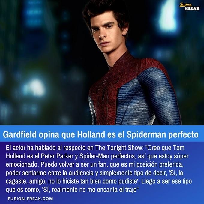 Andrew Gardfield opina que Tom Holland es el Spiderman perfecto