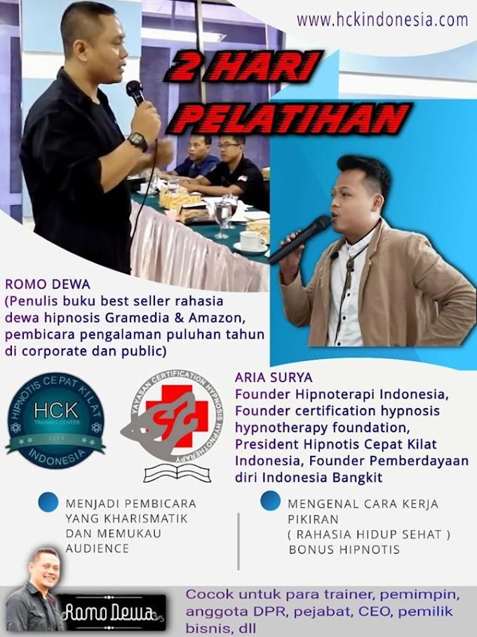 PELATIHAN HIPNOTIS,HIPNOTERAPI & GENDAM DI INDONESIA