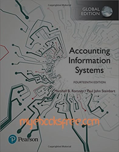Accounting Information Systems Pdf Book, Global Edition 14th edition