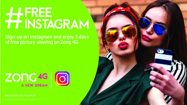 Pakistan's No. 1 Data Network, #Zong 4G partners with Instagram