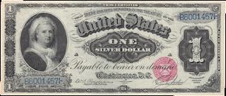 عملة أمريكية تحمل صورة مارثا واشنطن أول سيدة للولايات المتحدة الأمريكية
