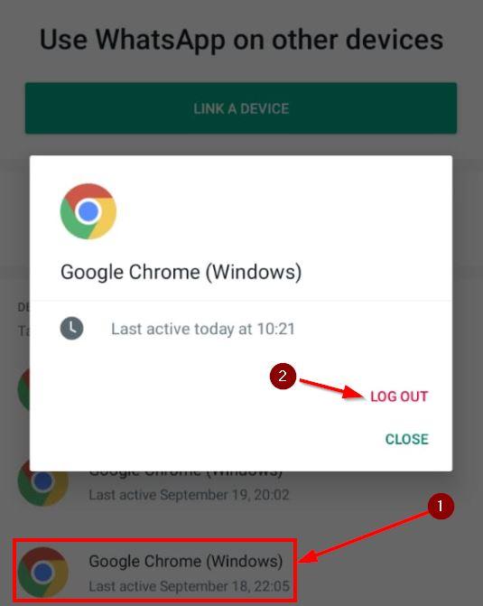 cara logout wa web dari aplikasi whatsapp