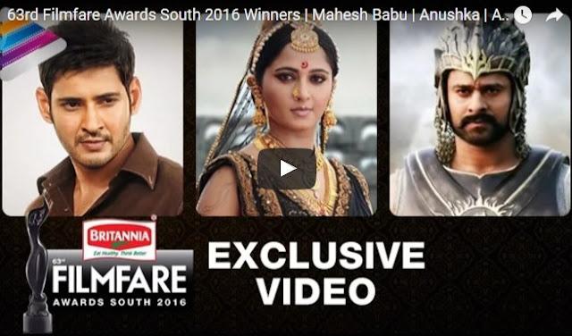 Filmfare Awards South 2016 Winners