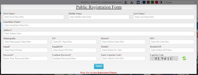 Banglarbhumi Registration Form - Banglarbhumi.gov.in 2020