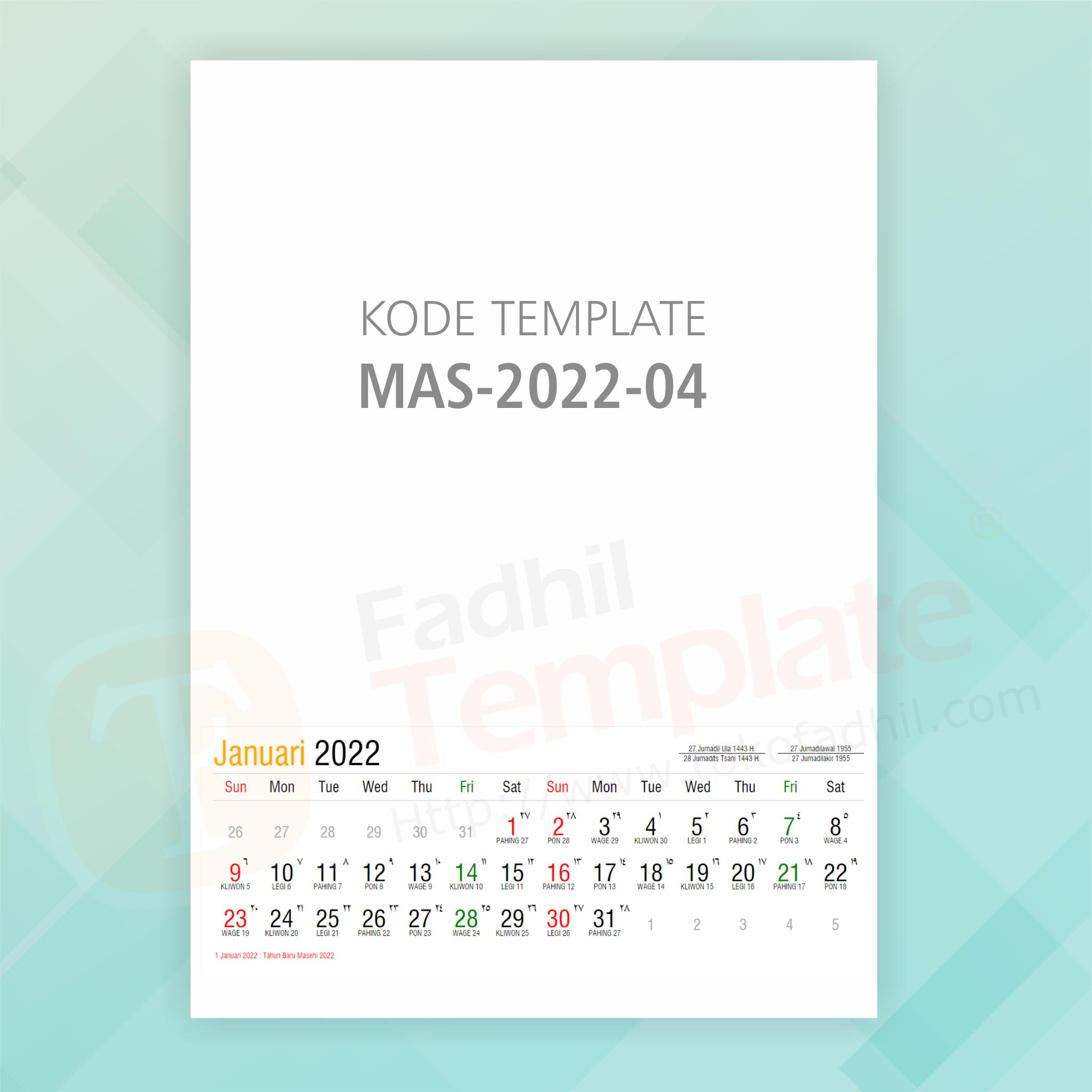 2022 Calendar Templates Free Desain Kalender Keren