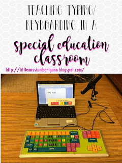 Teaching Typing/ Keyboarding in a Special Education Classroom