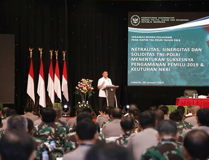 Pangdam I/BB Hadiri Rapim TNI-Polri 2019 di Jakarta