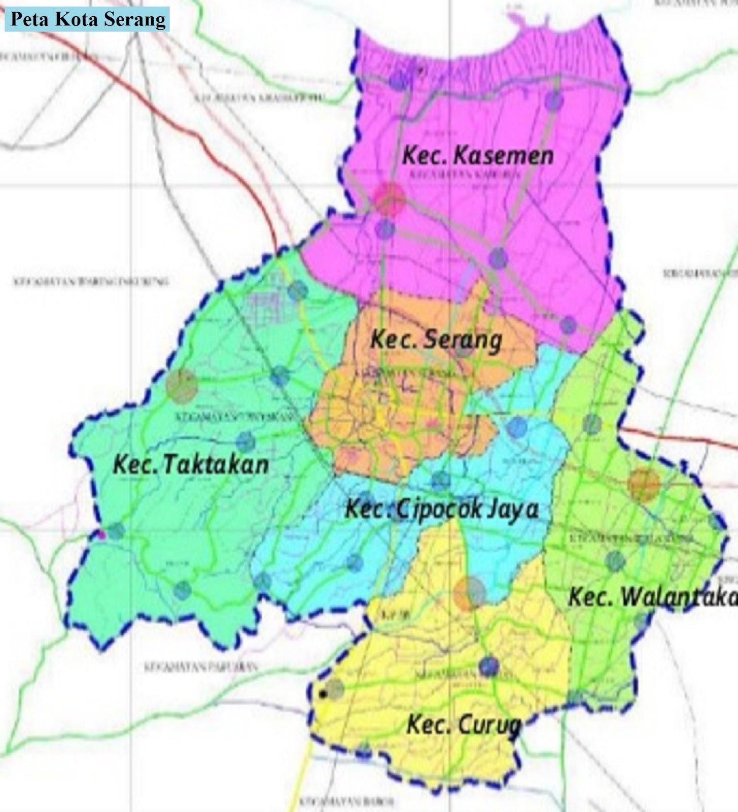 Peta Kota Serang