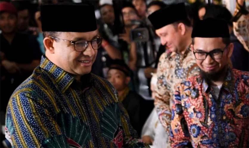 Ustadz Adi Hidayat dan Anies Baswedan