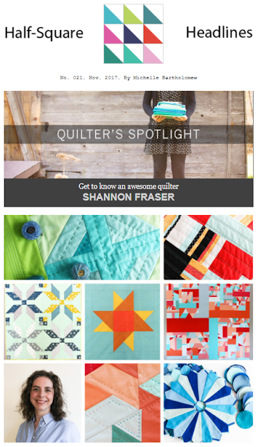 Shannon Fraser featured in Michelle Bartholomew's Newsletter | 2017 Year in Review + 2018 Goal Setting | Shannon Fraser Designs | Modern Quilting