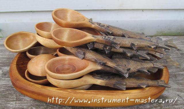 деревянные резные ложки