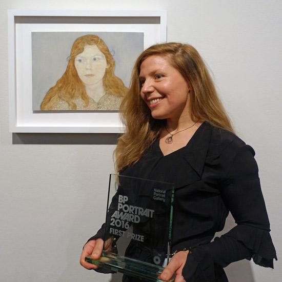 MAKING A MARK: Clara Drummond wins £30,000 BP Portrait Award 2016