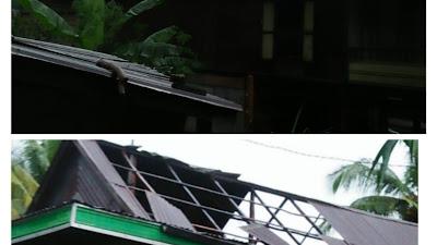 Diterjang Puting Beliung, Belasan Rumah Warga Desa Timurung Bone Rusak