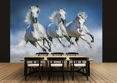 fotomural caballos blancos 162