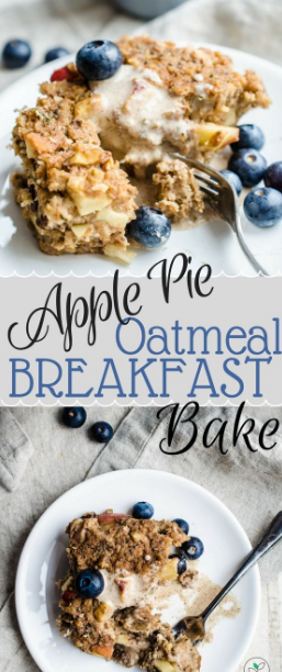 Apple Pie Oatmeal Breakfast Bake