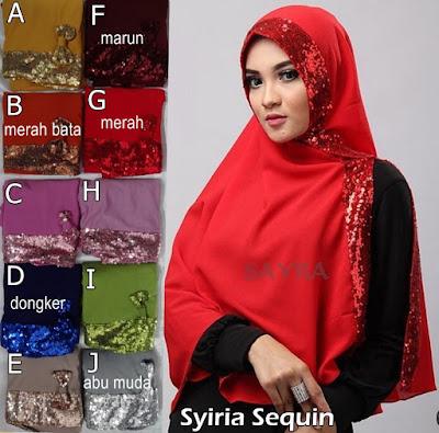 Model Jilbab Terbaru Syiria Sequin