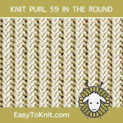 One Row Repeat Knitting Pattern, easy to knit in the round