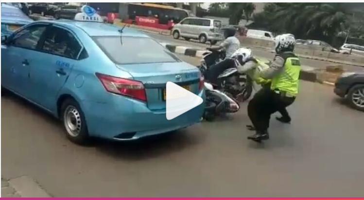 Viral Sopirnya Tabrak Polisi Saat Razia, Blue Bird pun Ambil Tindakan ini!