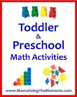 A list of ideas and tools to teach math skills to toddlers and preschoolers. This would be helpful for homeschooling preschool