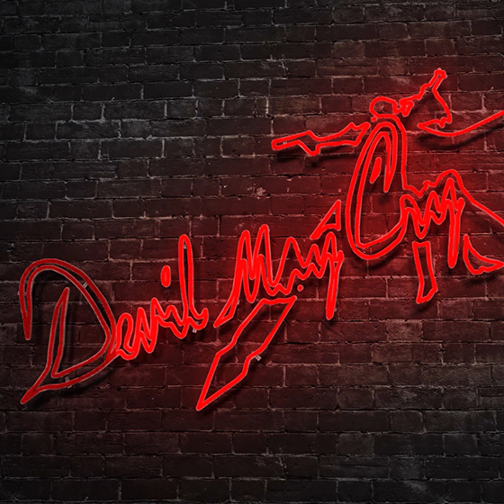 DMC - Devil May Cry Neon Logo Wallpaper Engine