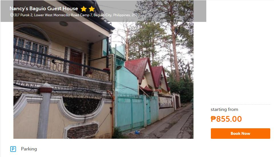 Cheap Baguio Hotels Inns Guest Pension and Transient Houses